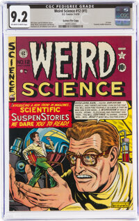 Weird Science 12 (#1) Gaines File Pedigree (EC, 1950) CGC NM- 9.2 Off-white to white pages