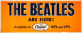 Music Memorabilia:Posters, The Beatles Are Here! 1964 Capitol Records Promotional Banner....