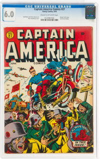 Captain America Comics #27 (Timely, 1943) CGC FN 6.0 Cream to off-white pages