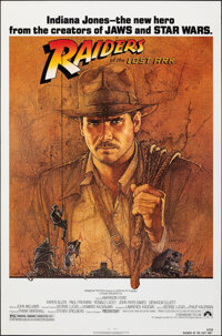 """Raiders of the Lost Ark (Paramount, 1981). Rolled, Very Fine+. One Sheet (27"""" X 41"""") Richard Amsel Artwork. Ad..."""