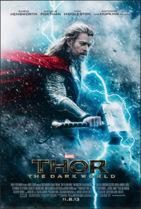 "Thor: The Dark World (Walt Disney Studios, 2013). Rolled, Very Fine+. One Sheet (27"" X 40"") DS Advance. Advent..."
