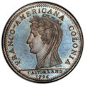 1796 Medal Castorland, Silver Restrike-Original Dies MS65+ PCGS. PCGS Population: (0/0 and 1/0+). NGC Census: (0/0 and 0...
