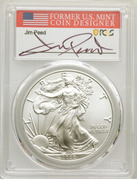 (3) 2020-(P) $1 Silver Eagles, Emergency Issue Struck at Philadelphia, First Day of Issue, Peed Signature, MS70 PCGS. PC...