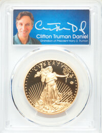 2020-W G$50 One-Ounce Gold Eagle, v75 Privy, First Day of Issue, Clifton Truman Signature, PR70 Deep Cameo PCGS. PCGS Po...