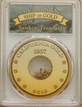 Pinch of Gold Dust, PCGS. Ex: S.S. Central America. The gold fragments are housed in a Bob Evans Signature holder simila...