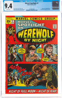 Marvel Spotlight #2 Werewolf by Night (Marvel, 1972) CGC NM 9.4 White pages