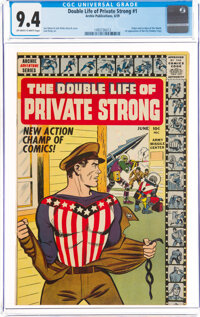 The Double Life of Private Strong #1 (Archie, 1959) CGC NM 9.4 Off-white to white pages