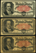 Fractional Currency:Fifth Issue, Fr. 1381 50¢ Fifth Issue Three Examples XF; Fine; Fine.. ... (Total: 3 notes)