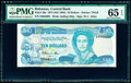World Currency, Bahamas Central Bank 10 Dollars 1974 (ND 1984) Pick 46a PMG Gem Uncirculated 65 EPQ.. ...