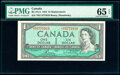Canada Bank of Canada $1 1954 Pick 75c BC-37cA Replacement PMG Gem Uncirculated 65 EPQ
