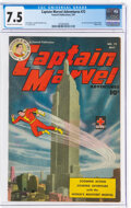 Golden Age (1938-1955):Superhero, Captain Marvel Adventures #72 (Fawcett Publications, 1947) CGC VF- 7.5 Cream to off-white pages....