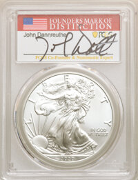 2020 $1 Silver Eagle, First Day of Issue, John Dannreuther MS70 PCGS. PCGS Population: (230). NGC Census: (0)....(PCGS#...