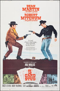 "5 Card Stud & Other Lot (Paramount, 1968). Folded, Overall: Fine+. One Sheets (2) (27"" X 41""). Western..."