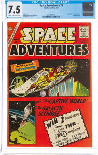 Space Adventures #33 (Charlton, 1960) CGC VF- 7.5 Cream to off-white pages