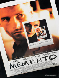 "Memento (Newmarket, 2000). Rolled, Very Fine+. One Sheet (27"" X 39.5"") DS. Mystery"