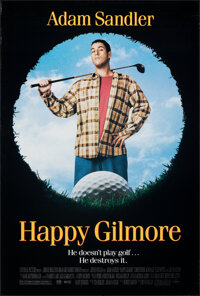"""Happy Gilmore (Universal, 1996). Rolled, Very Fine. One Sheet (27"""" X 40"""") DS. Comedy"""