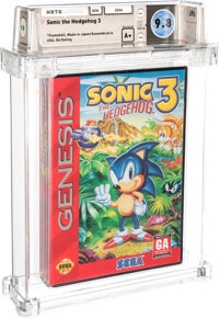 Sonic the Hedgehog 3 - Wata 9.8 A+ Sealed [GA Rating, Early Production], GEN Sega 1994 USA
