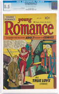 Golden Age (1938-1955):Romance, Young Romance Comics #1 (Prize, 1947) CGC VF+ 8.5 Off-white to white pages....