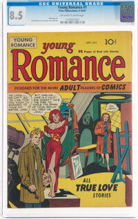 Young Romance Comics #1 (Prize, 1947) CGC VF+ 8.5 Off-white to white pages