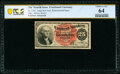 Fr. 1301 25¢ Fourth Issue Courtesy Autograph PCGS Banknote Choice Unc 64