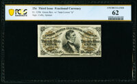 Fr. 1296 25¢ Third Issue PCGS Banknote Uncirculated 62