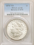 (3)1878 7TF $1 Reverse of 1878 AU58 PCGS. Housed in individually certified PCGS holders.... (Total: 3 coins)