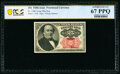 Fractional Currency:Fifth Issue, Fr. 1308 25¢ Fifth Issue PCGS Banknote Superb Gem Unc 67 PPQ.. ...
