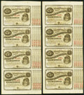 """Obsoletes By State:Louisiana, (Baton Rouge), LA- State of Louisiana """"Baby Bond"""" $5-$5-$5-$5 1873-1874 Uncut Sheets Five Examples Crisp Uncirculated.. ... (Total: 5 sheets)"""