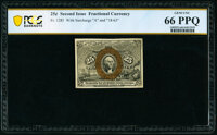 Fr. 1285 25¢ Second Issue PCGS Banknote Gem Unc 66 PPQ
