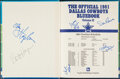 Autographs:Others, 1981 Multi-Signed Dallas Cowboys Bluebook. Offered...