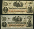 T41 $100 1862 PF-12 Cr. 317A Crisp Uncirculated; T41 $100 1862 PF-20 Cr. 316A About Uncirculated. ... (Total: 2 notes)