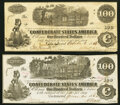T39 $100 1862 PF-4 Cr. 293 Crisp Uncirculated; T40 $100 1862 PF-1 Cr. 298 Very Good-Fine. ... (Total: 2 notes)