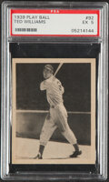 Baseball Cards:Singles (1930-1939), 1939 Play Ball Ted Williams #92 Rookie PSA EX 5....