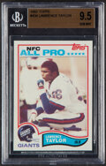 Football Cards:Singles (1970-Now), 1982 Topps Lawrence Taylor #434 BGS Gem Mint 9.5. ...