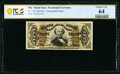 Fractional Currency:Third Issue, Fr. 1330 50¢ Third Issue Spinner PCGS Banknote Choice Unc 64.. ...