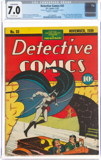 Detective Comics #33 (DC, 1939) CGC Conserved FN/VF 7.0 Off-white pages