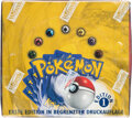 Memorabilia:Trading Cards, Pokémon German First Edition Base Set Sealed Booster Box (Wizards of the Coast, 1999)....