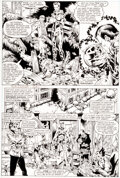 Original Comic Art:Story Page, Michael Golden and Armando Gil The Avengers Annual #10 Story Page 8 Original Art (Marvel, 1981)....