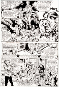 Michael Golden and Armando Gil The Avengers Annual #10 Story Page 8 Original Art (Marvel, 1981)