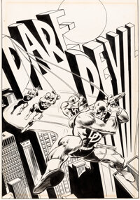 Gene Colan The Mighty World of Marvel Pin-Up Book Pin-Up Illustration Daredevil Original Art (Marvel, 1978)