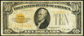 Small Size:Gold Certificates, B-A Block Fr. 2400 $10 1928 Gold Certificate. Fine.. ...