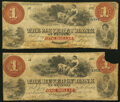 Beverly, MA- Beverly Bank of Beverly Altered $1 Mar. 1, 1858 Good; Very Good. ... (Total: 2 notes)