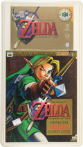 Video Games:Nintendo, The Legend of Zelda: Ocarina of Time (Player's Choice) - VF+ Sealed [Guidebook Blister Pack], N64 Nintendo 1999 USA....