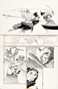 Original Comic Art:Story Page, Frank Miller Ronin #5 Story Page 21 Original Art (DC, 1983)....