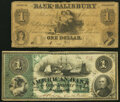 Obsoletes By State:Maryland, Baltimore, MD- American Bank $1 Dec. 1, 1863 Fine;. Salisbury, MD- Bank of Salisbury $1 Mar. 4, 1848 Very Good.... (Total: 2 notes)