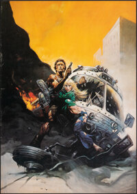 "The Gauntlet (Warner Bros., 1977). Rolled, Very Fine-. Art Print Poster (20"" X 28.5"") Frank Frazetta Artwork..."