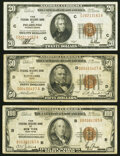 Small Size:Federal Reserve Bank Notes, Fr. 1870-C $20 1929 Federal Reserve Bank Note. Very Fine;. Fr. 1880-D $50 1929 Federal Reserve Bank Note. Very Good-Fine;... (Total: 3 notes)