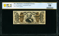 Fractional Currency:Third Issue, Fr. 1329 50¢ Third Issue Spinner Amanuensis PCGS Banknote Choice AU 58.. ...