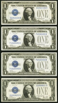 Fr. 1600 $1 1928 Silver Certificate. About Uncirculated; Fr. 1601 $1 1928A Silver Certificate. Two Examples. About Uncir...