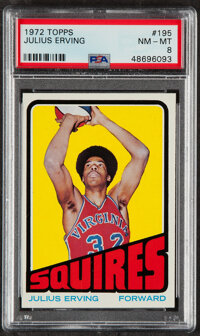 1972 Topps Julius Erving #195 PSA NM-MT 8